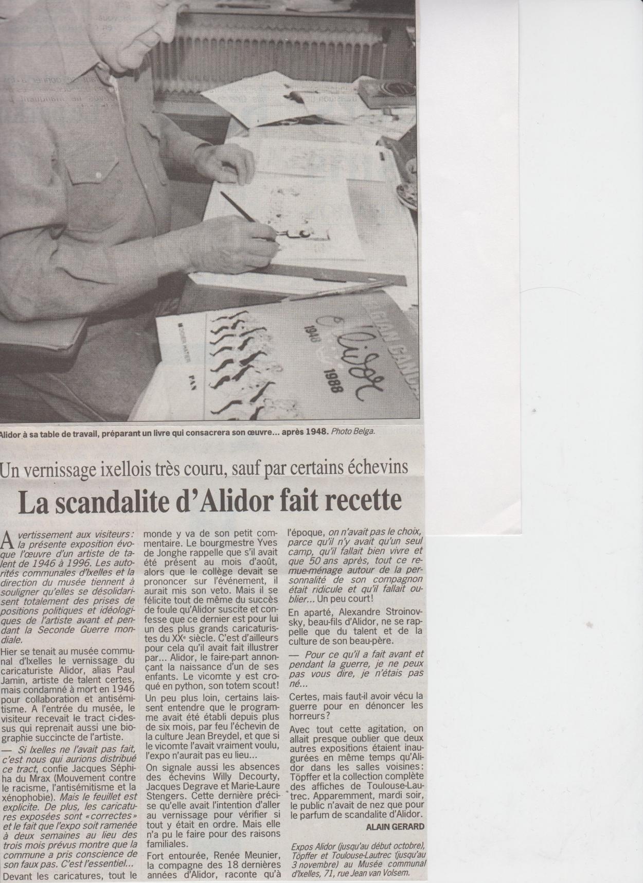 BDKD1113_Paul Jamin_Le Soir_polémique Ixelles (19.09.96)