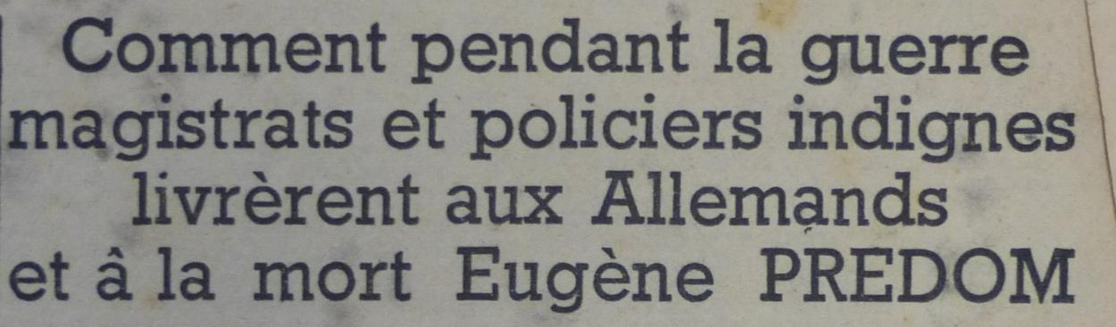 Predom_Drapeau Rouge 28 oktober 1944 Predom