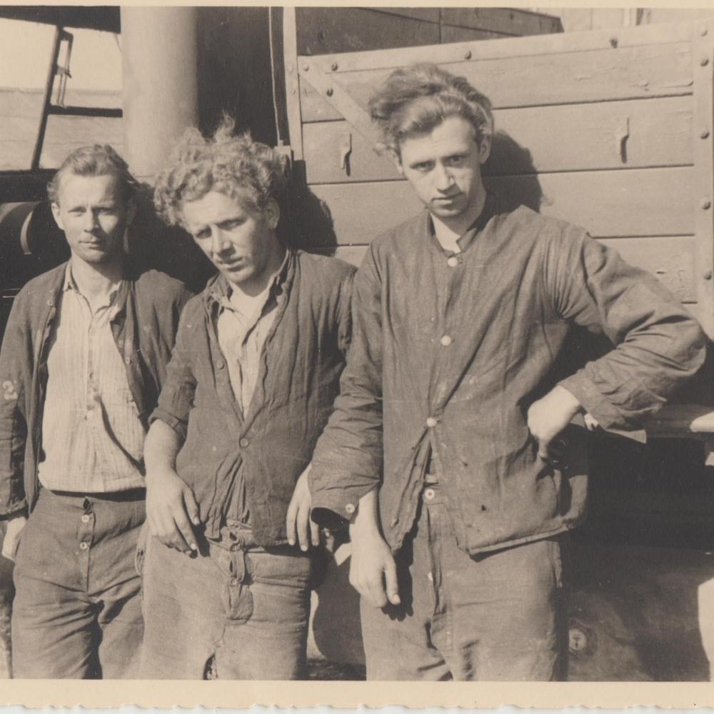 Prisonniers au camp d'Erbisoeul