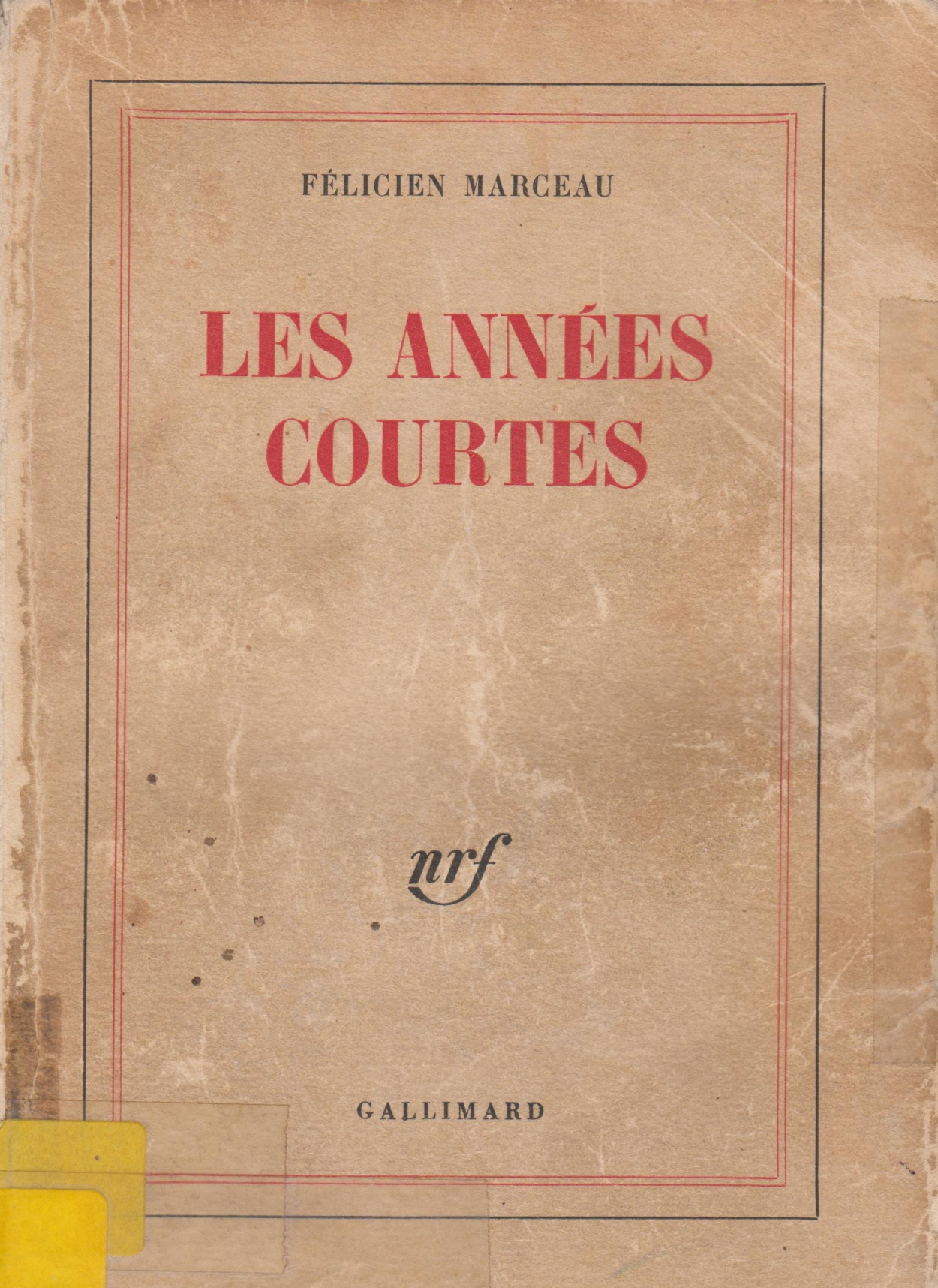 bab131_les-annAes-courtes_marceau_voorblad