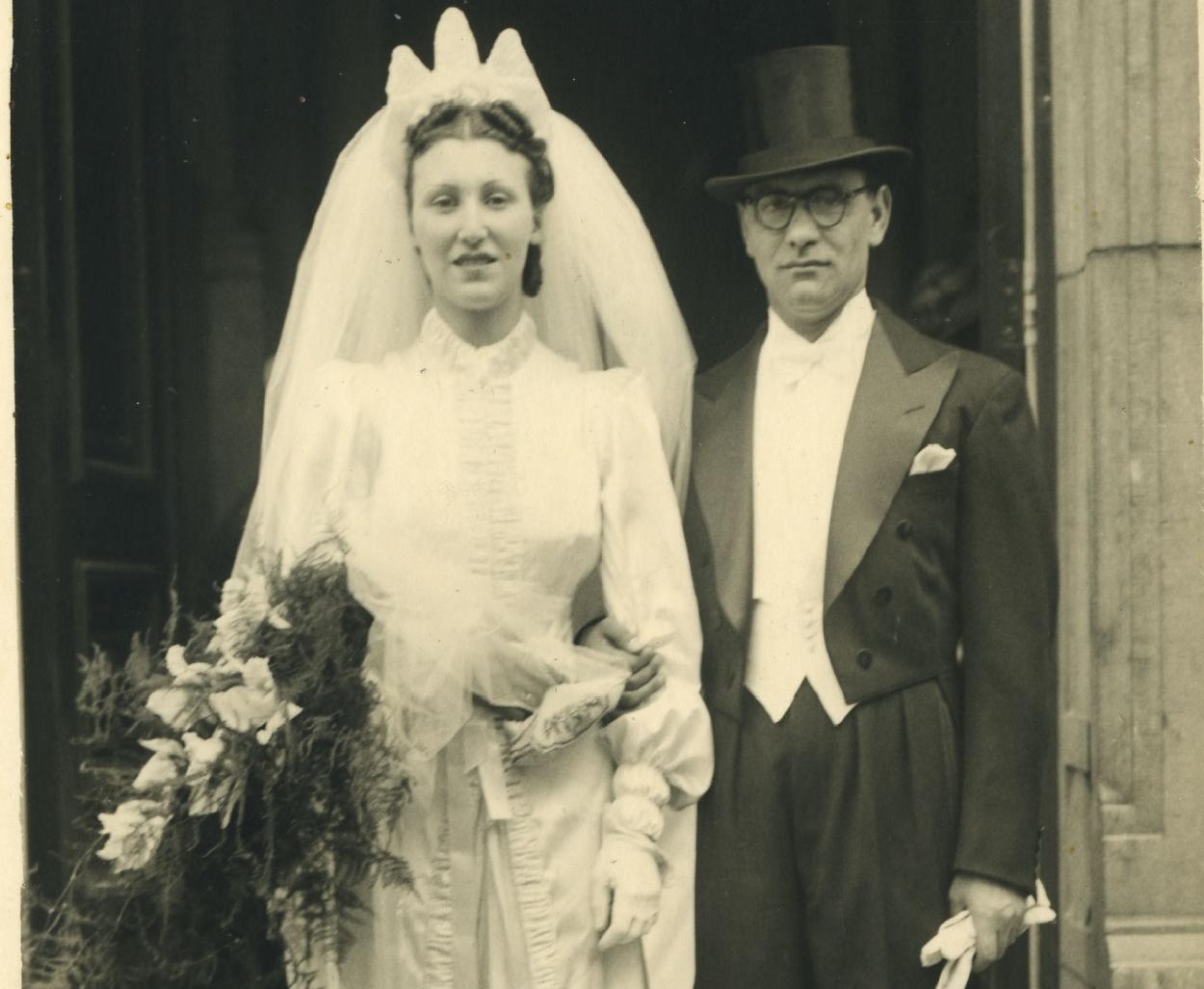 huwelijksfoto ouders norbert