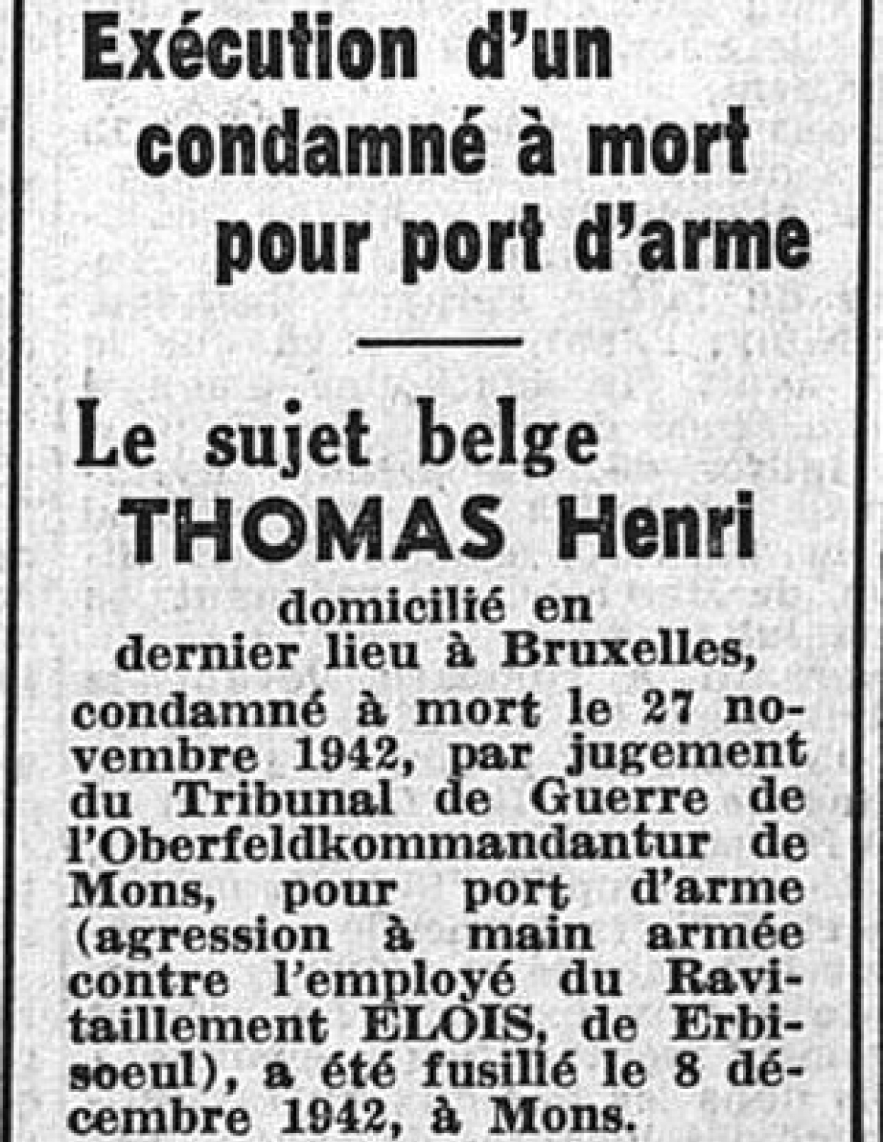 Thomas Henri_Journal du borinage_09121942