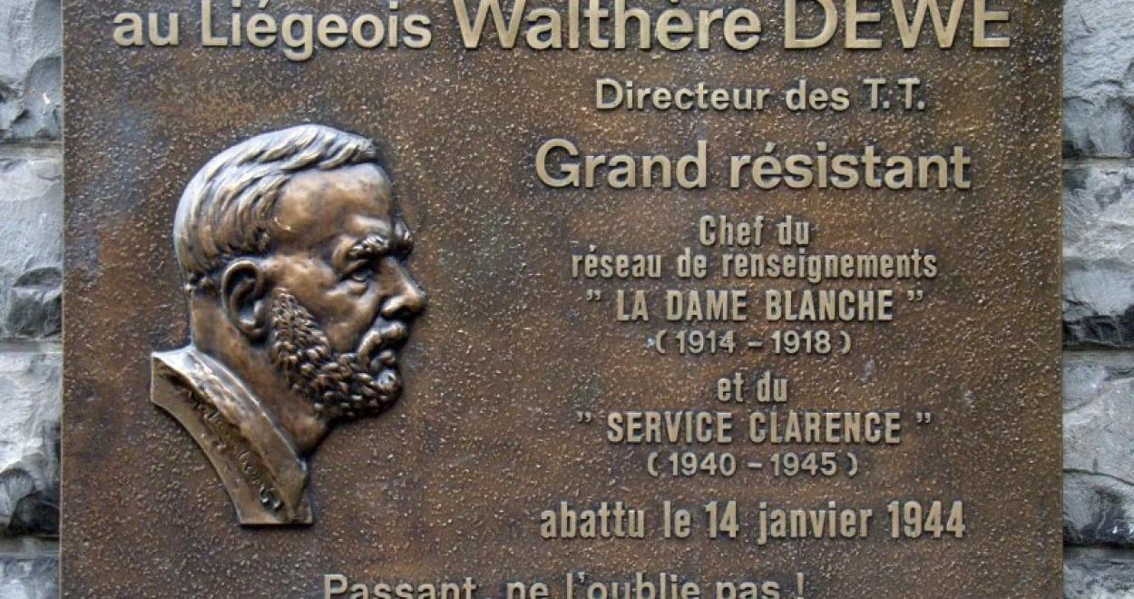 plaque en hommage à Walthère Dewé